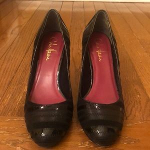 Cole Haan Nike Air Black Leather Pumps